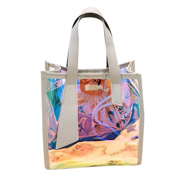 Laser Handbag Women's Bag capacity Fashion New Multi-Function Holographic Lady Messenger Bags Shoulder Bag Bolsa Feminina#H15