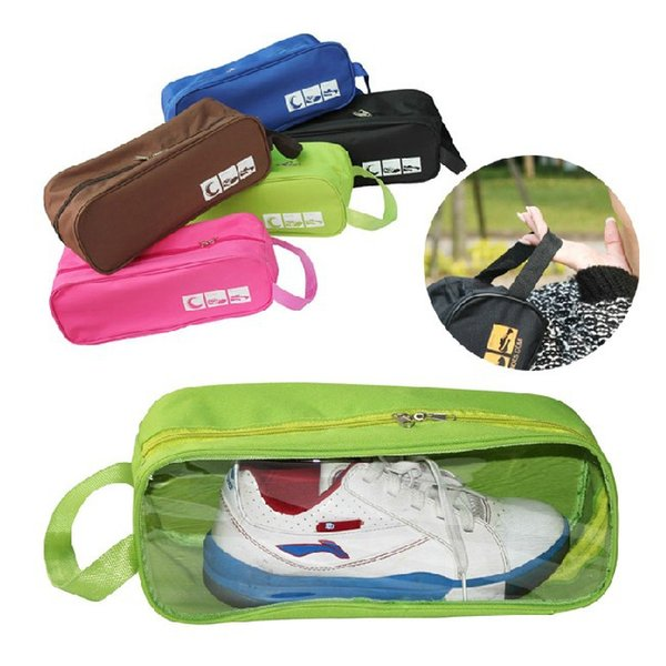 Travel Shoe Storage Tote Bag Waterproof Transparent Shoes Organizer Bags Portable Handle Breathable Shoes Storage Pouches BH1653 TQQ