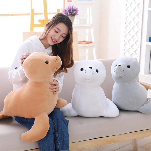 2019 New Marine Life Seelöwen Stofftiere Puppe Simulation Baby Seal Plüschtier Puppen Schlafkissen Senden Kinder Kinder Geschenk