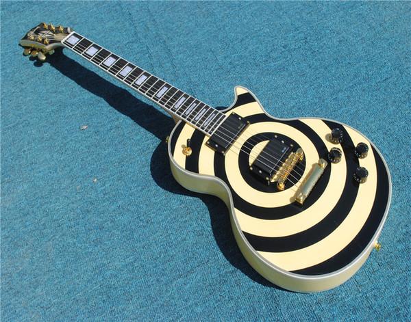 Últimos instrumentos musicales LP Guitarra personalizada Cuello de arce de la mano izquierda para la venta Envío gratis