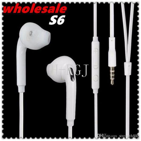 Súper vendedor caliente Nuevo auricular de manos libres con micrófono en la oreja para Samsung GALAXY S3 S4 S6 Nota Note3 N7100 MobilePhone Micrófono