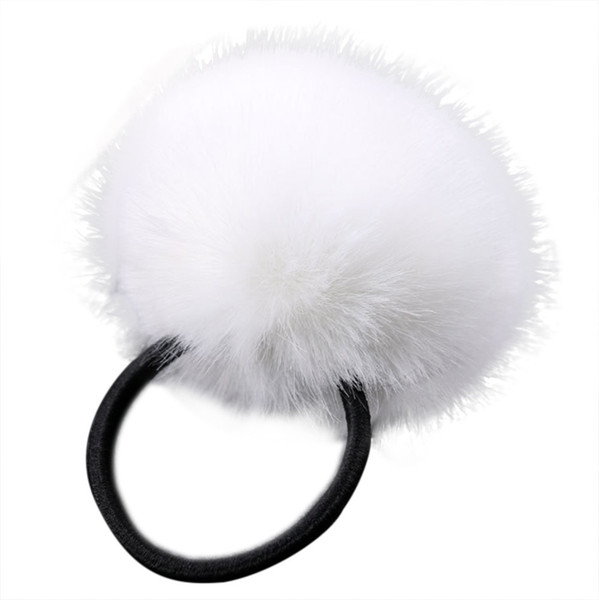 Summer New Fashion Korea Style Accessories For Women 1px Rabbit Hair Band Elastic Bobble Pony Tail Holder