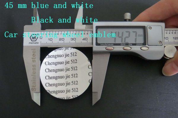 500pcs Car M 45mm Car Steering Vehicle steering wheel sticke car sticker Emblem Badge For BMW M3 M5 X1 X3 X5 X6 E36 E39 E46 E30 E60 E92