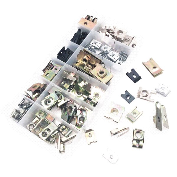 120PCS Misto universale auto vite autofilettante Base in metallo ferro blocco clip di fissaggio con scatola per tutte le auto set di rivetti