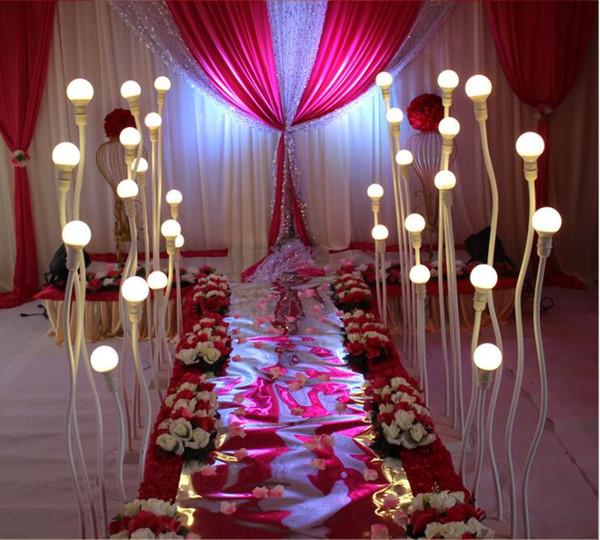 Современный дизайн свадьба свет дорога ведущая дорожка ведущая дорога светодиодные фонари 5 пвх фонарный столб любой изогнутый свет дороги дорожного света украшения