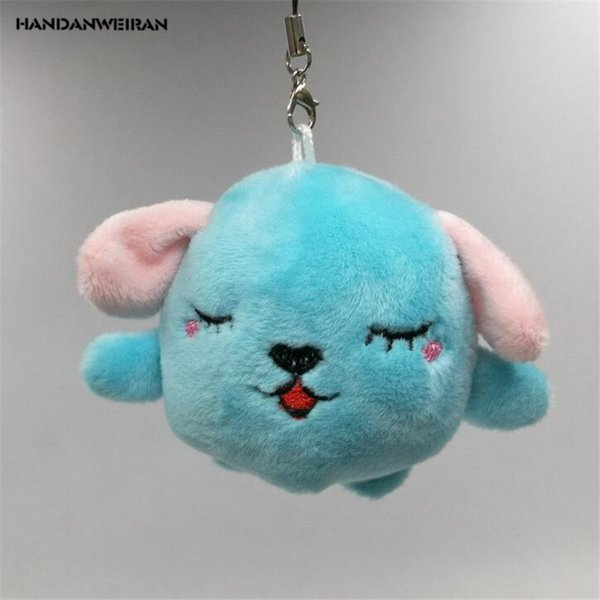 HANDANWEIRAN 1Pcs New Kawaii 7CM Puppy Plush Stuffed Toys Lovely Dog Pendants Mobile Phone Chain Plush Toy Kid's Gifts PP Cotton