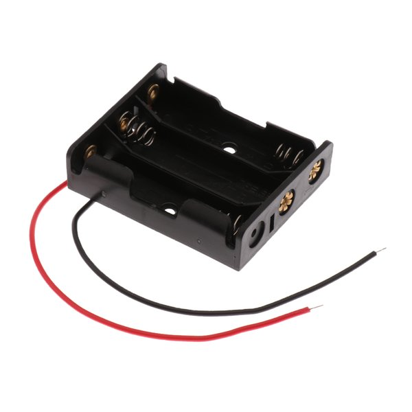 best selling 57mm*42mm*15mm 1 Type AA X 3Pcs Open Battery Holder Box With Wires