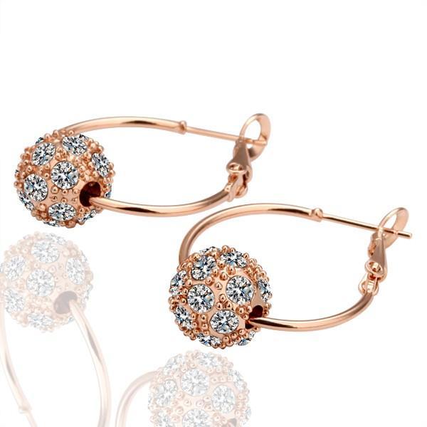 Hot sales 18K Gold/Platinum Plated Ball Bead Hoop Earrings Genuine Austrian Crystal Fashion Costume Women Earrings Jewelry for women