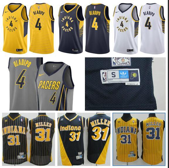 innovative design b2710 5d756 2018 Indiana Pacers Season 2018 Season 4 Oladipo Embroidery Logo Blue And  White City Jersey From Wgtrade1, $18.9 | DHgate.Com