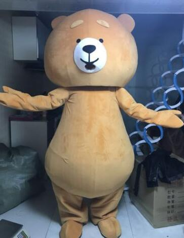 Teddy Bear Mascot Costume Suit Partido Jogo Fancy Dress Outfits Adult Size