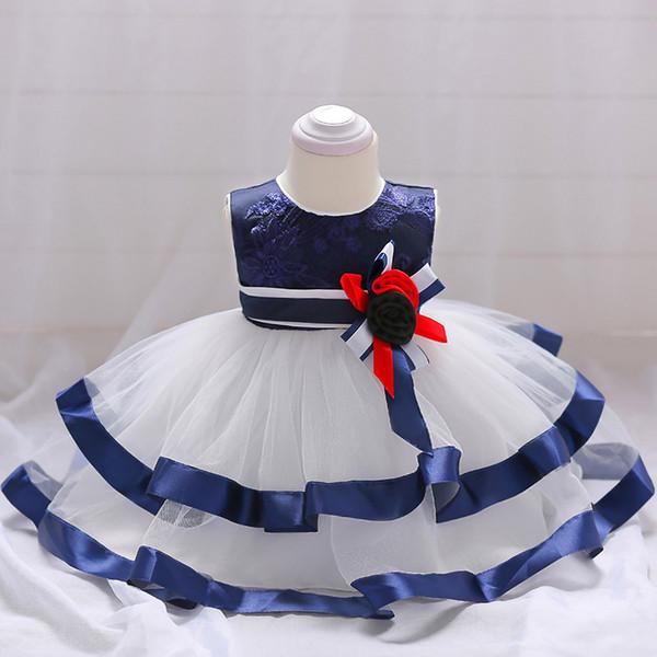 2019 Été Nouveau-né Princesse Robe Enfants Robes Designs Petit Bébé Communion Partie Premier Anniversaire Robe Pour Fille Enfant L1834xz