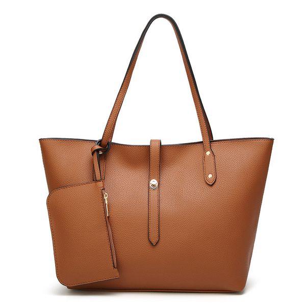 New women's bag version of the handbag fashion casual large capacity shoulder Messenger handbag soft leather bag