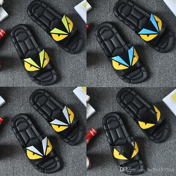 sandali degli scivoli dei sandali dello scivolo di modo del progettista di qualità superiore Caldo progettista difenda i piccoli mostri i sandali della spiaggia di infradito della spiaggia di infradito dei mostri