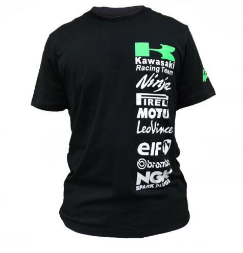 Free shipping For KAWASAKI RACING TEAM fans T-shirts MotoGP t shirt men tee Motorcycle Mococross Kawasaki Ninja t shirt L