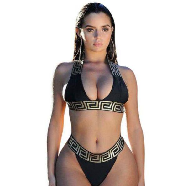 Купальники для женщин One Set Bikini Underwear Купальники Мода Печатный дизайнер Купальник для женщин Сексуальные купальные костюмы Сексуальные купальники из двух частей
