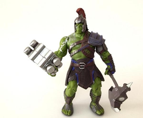 купить оптом Thor Ragnarok Gladiatus Hulk игрушки куклы 2019 года новые дети мстители мультфильм модель игрушки из пвх суставы могут двигаться