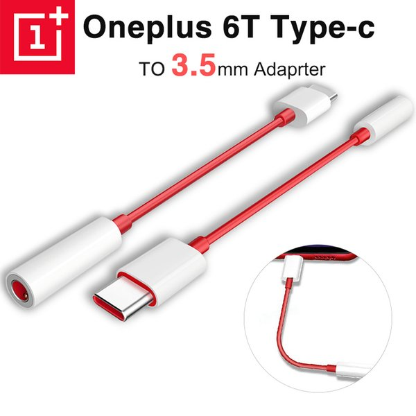 100% Original Oneplus 6T Usb Type C To 3.5mm Earphone Jack Adapter Aux Audio for One Plus 6t 1+ Usb-c Music Converter Cable