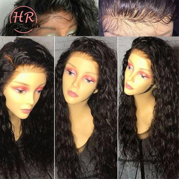 Honrin Saç İnsan Saç Dantel Peruk Derin Kıvırcık Dantel Ön Peruk Brezilyalı Bakire Saç Tam Dantel Peruk Kıvırcık 150% Yoğunluk Ön Koparıp Tutkalsız