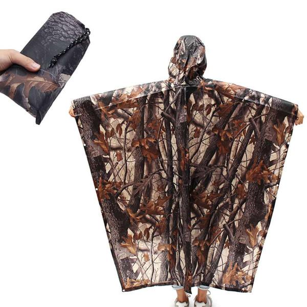 Camouflage Imperméable En Plein Air Randonnée Camping Voiture Électrique Equitation Vêtements Housse De Pluie Portable Tente Imperméable Tapis De Chasse Vêtements