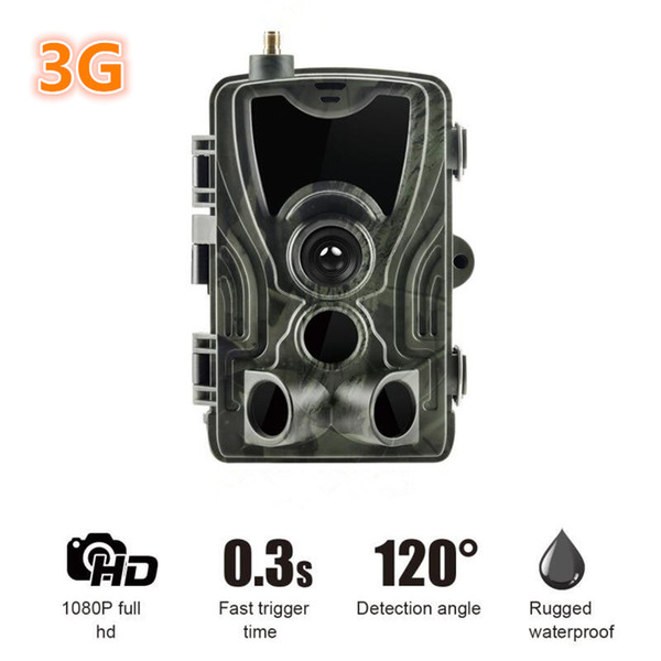 2019 New 3G MMS Hunting Trail Camera 1080p Video Transmission Wireless SMS Control Security Camera HC-801G