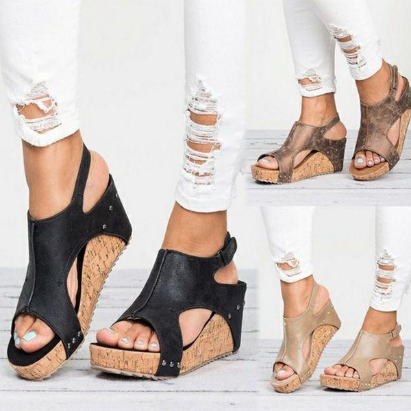 Platform Sandals Wedges Shoes For Women Heels Sandalias Mujer Summer Shoes Clog Womens Espadrilles Women Sandals