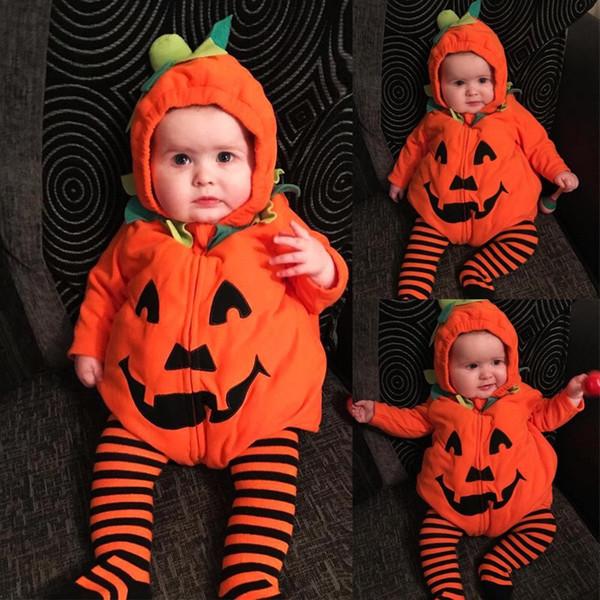 Halloween INS Criança Bebê Meninos Macacão Hoodies Veludo Algodão Sem Mangas Frente Zippy Outono Adorável Recém-nascido Crianças Meninos Meninas Macacões