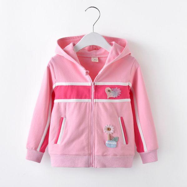 BibiCola spring autumn girls coat casual outerwear clothes cotton hooded zipper jacket girls party tops children sport coat