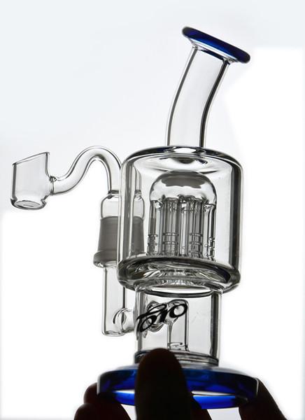 TORO Glass Bong Recycler Нефтяные вышки Dab Bong Водопроводные трубы Курительные опьяняющие стеклянные установки Bubbler Стаканы кальянов с 14 мм Banger Shisha
