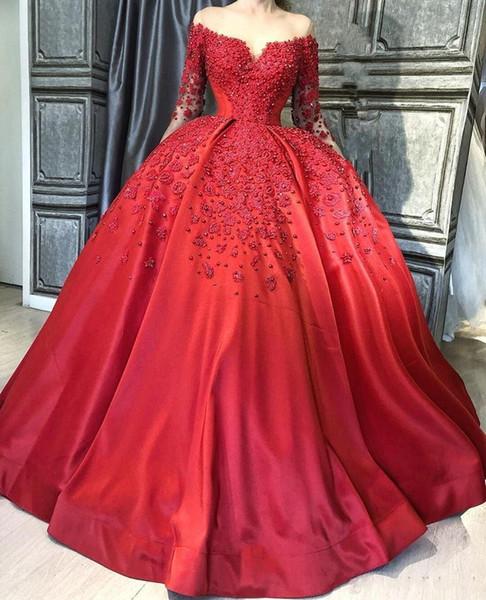 72435827f2e Plus Size Ball Gown Evening Dresses Long 2019 Elegant Muslim Long .