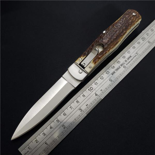 La mejor calidad Cuchillos plegables tácticos horizontales de una sola acción Cuchillas D2 Cuchillas Mango Cuchillo táctico de supervivencia Cuchillo hecho a mano Herramientas EDC BM42