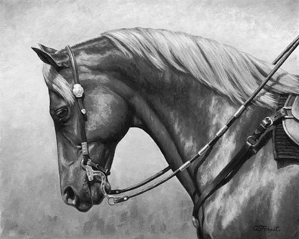 Artwork-western horse-black-and-white-Unframed Modern Canvas Wall Art for Home and Office Decoration,Oil Painting ,Animal painatings ,frame.