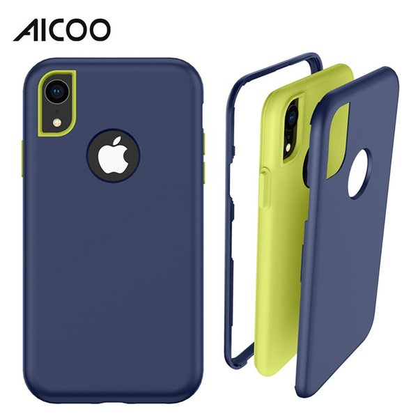 Aicoo Armor Shockproof Bumper Case Hybrid PC Silicone Cover for iPhone XS MAX X 6 7 8 Plus Samsung A6 A9 2018 J2 MOTE E5 Play LG Stylo 4 OPP