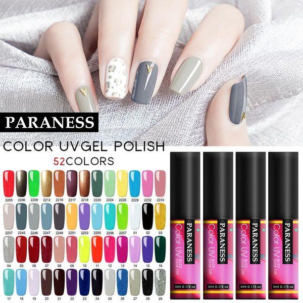 best selling Paraness Pure Nails Polish Colors Gel Lak Nail Art Gel Varnish Soak Off UV Gel Nails Polish Semi Permanent Top Coat Varnishes