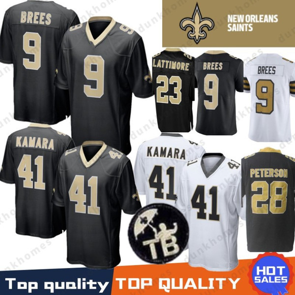 9 Drew Brees 41 Alvin Kamara Jersey New Orleans Saints 23 Marshon Lattimore  13 Michael Thomas 7 Taysom Hill 28 Peterson Terrorblade Stitched c0d0c1ce2