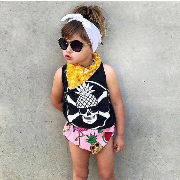 Toddler Children Kids Baby Girls Boys Cotton TShirt Kids Sleeveless Cartoon Print Tops Vest T-Shirt Casual Clothes F417