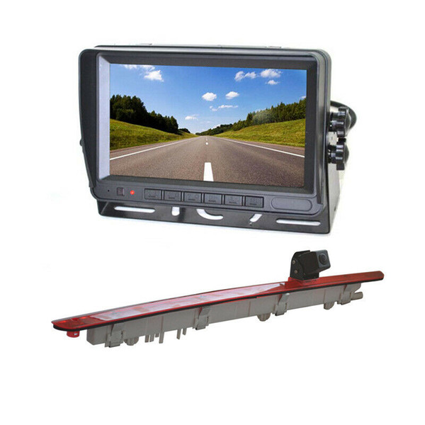 Car Rear View Parking Brake Light Backup Camera + Rear View Monitor for Mercedes Benz Vito Metris Viano