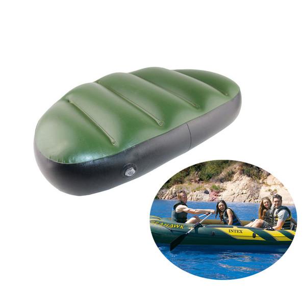 Aleatória Cor Pvc Assento Inflável Almofada De Ar Mat À Prova D 'Água Barco De Pesca Inflável Ao Ar Livre Assento Travesseiro 46 * 32 * 10 cm