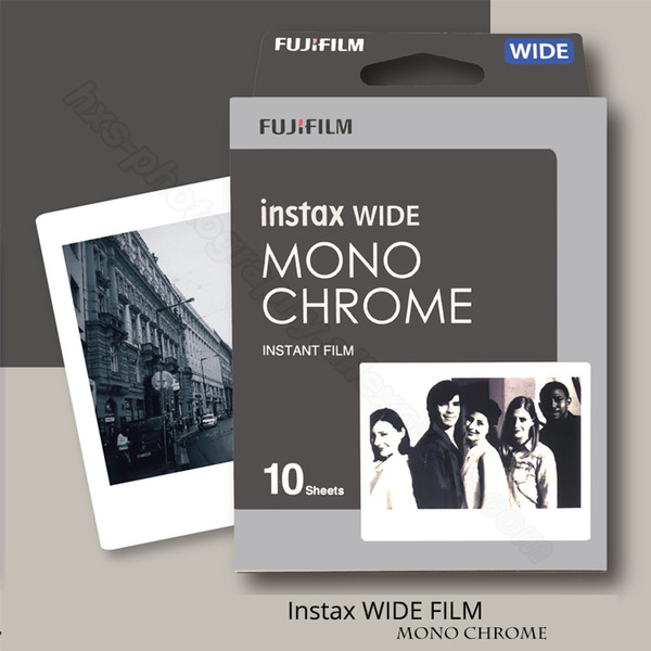 Genuine Instax Wide Monochrome Film For Instant Polaroid Instax Wide Camera 300/200/210/100/500AF
