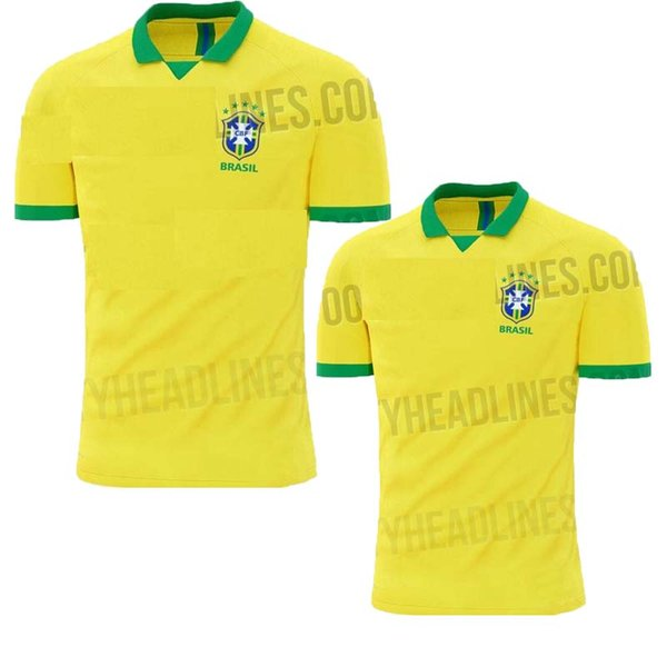 NEW 2019 2020 World cup Brasil soccer jerseys men Brazil Jersey 2019 20 JESUS COUTINHO FIRMINO MARCELO football kit shirt camisa de futebol