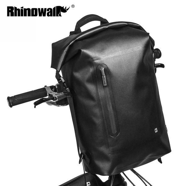 RHINOWALK Outdoor Bicycle Front Handlebar Storage Bag Full Rainproof Road MTB Bike Tools Bag For Men Travel Riding Backpack