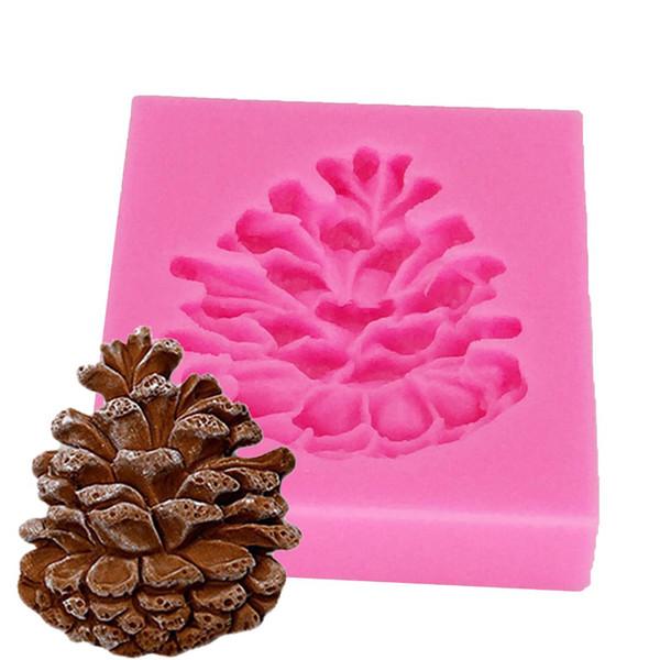 Les noix de pin à cône en silicone Fandont Moule chocolat bonbons moule gumpaste outils de décoration gâteau de Noël