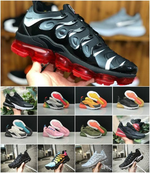 buy online 2fee5 26d7d 2019 Air Kids 270 Running Sports Shoes Infant 270S Boys Girls Off Black  White Red Blue Basketball Sneakers Run TN Plus Chaussures Maxes Formal  Shoes ...