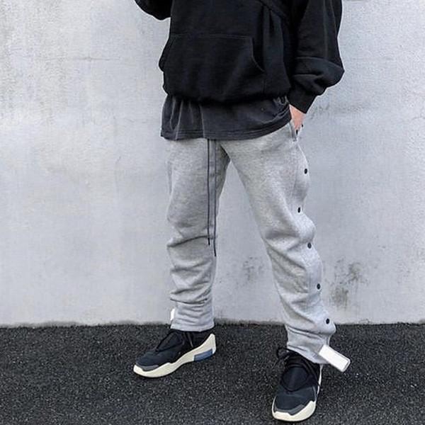 19SS angst gottes NEBEL dunkle schnalle jogginghose grau klassische trainingshose luxus vintage street casual hosen männer frauen sport hosen HFYMKZ143