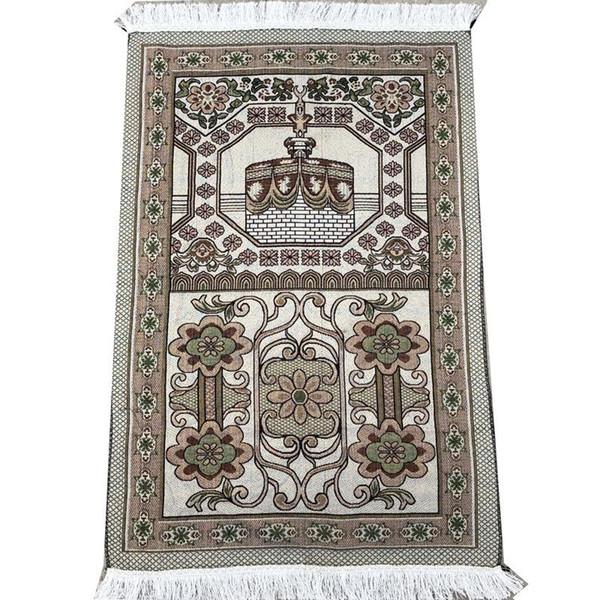 top popular wholesale 70*110cm thin Islamic Muslim Prayer Mat Salat Musallah Prayer Rug Tapis Carpet Tapete Banheiro Islamic Praying Mat 2021