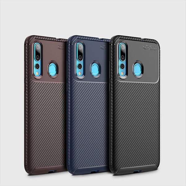 Carbon Fiber Texture TPU Cell Phone Cases For Huawei Nova 4 samsung S10 plus Iphone XR Slim Soft TPU Case