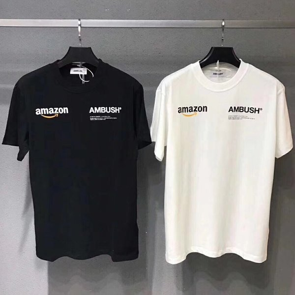classic top quality factory outlets Acheter AMBUSH X Amazon T Shirt Hommes Femmes 19SS Pop Up T Shirt Harajuku  Tshirt Hip Hop Streetwear Marque Été Coton Vêtements Tees Tops Casual 2019  ...
