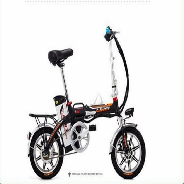 best selling NON 14-inch Lightweight folding Lithium-ion battery electric booster bike car  Special for driving Oil brake front fork damping
