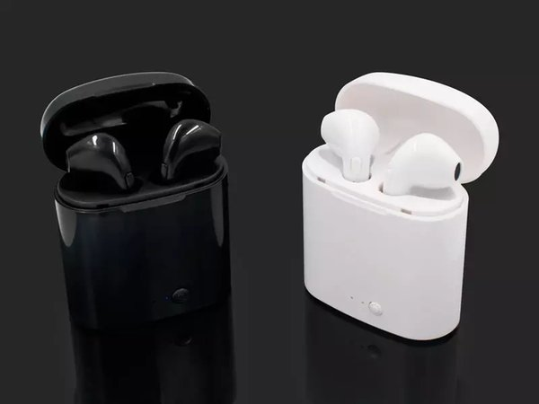 i7S TWS Mini Bluetooth Earphones Headphones Stereo Bass Wireless Headset Earbuds with Mic Charging Box for All Smart phone Free DHL Shipping