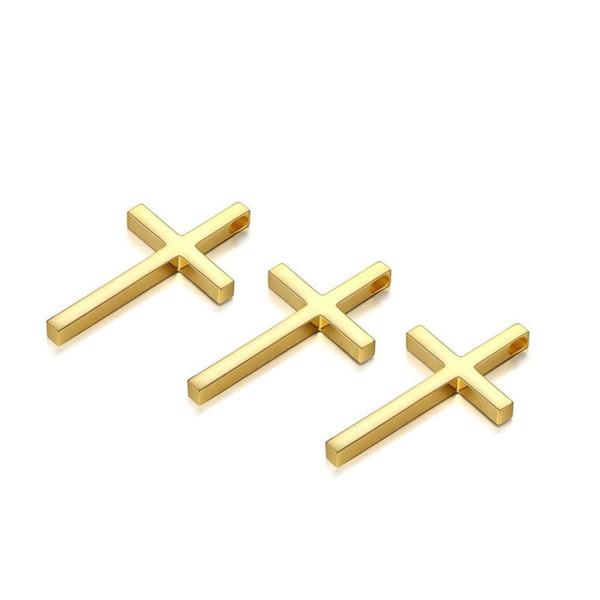 20PCS / lot 26x43mm Paslanmaz Çelik Çapraz Charms Konektörler Bileklik Gerdanlık Charms Çift Delik Çapraz kolye DIY Takı Yapımı Aksesuar