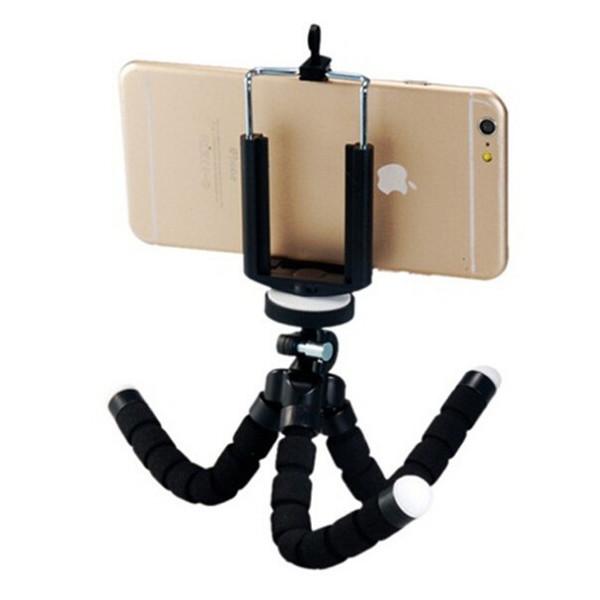 Flexible Sponge Octopus Mini Tripod With Bluetooth Remote Shutter For iPhone mini Camera Tripod Phone Holder clip stand